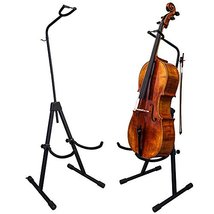 PAITITI Adjustable Foldable Stand for Cello with Hook for Bow - Black - $79.19