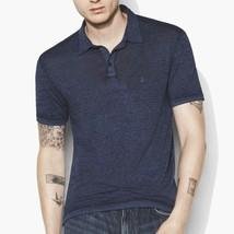 John Varvatos Star USA Men's Short Sleeve Peace Sign Polo Shirt Burnout Indigo - $64.77