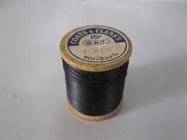 #21 old wood Spool w/ Thread: Coat's & Clark's Boilfast - Black - $2.00