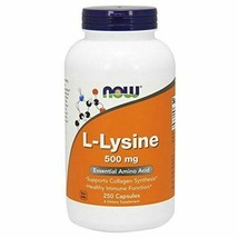 NEW NOW  L-Lysine Essential Amino Acid for Healthy Immune Function 250 C... - $16.79