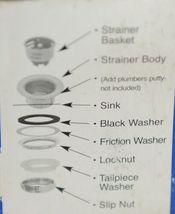 Dearborn Brass 3784 Junior Duo Bar Sink Strainer Stainless Steel image 4