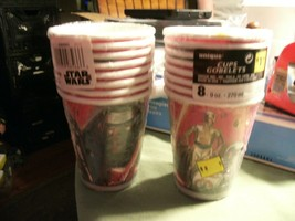 8#F Two 8 count packs Star Wars The Force Awakens 9 oz Paper Cups Birthday Party - $10.88