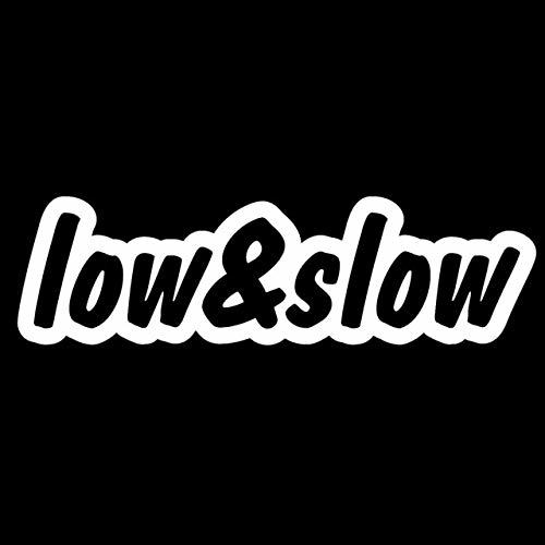 DECAL-STYLE - 18x5.3CM LOW & SLOW Funny Car Decal Racing Style JDM Personalized