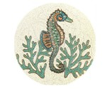 """Coastal Collection 15"""" Seahorse Turquoise Coral Beaded Charger Placemat Set of 2"""
