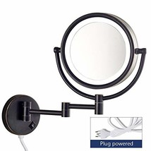 Gecious Wall Mounted Makeup Mirror with Led Light with Magnification 10x... - $86.99