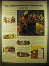 1946 Borden's Milk Ad - Are you sure your grandpa wasn't a mountain goat?  - $14.99