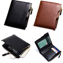 IPRee Men RFID Blocking PU Leather Purse Coin Card Holder Protective Sho... - $26.89