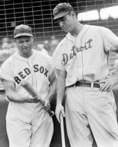 Jimmie Foxx & Hank Greenberg 8X10 Photo Boston Red Sox Tigers Baseball Picture - $3.95
