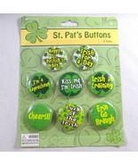 "8 Irish Buttons Shamrocks St Patricks Pins New 1"" Different Pinback Part... - $18.72"