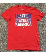 USA Soccer National Team Nike T-Shirt Men's Medium Red Slim Fit - $15.13