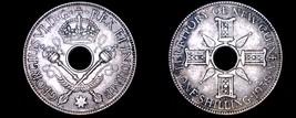 1938 New Guinea 1 Shilling World Silver Coin - $12.99
