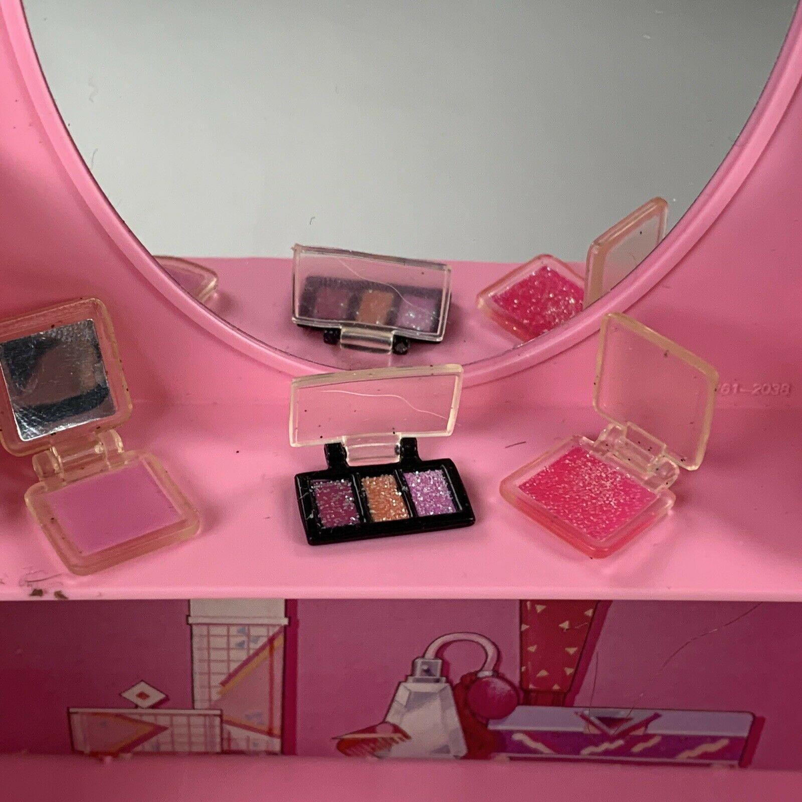 Vintage Barbie Secret Vanity Mirror Folding Purse Mattel 1988 Accessories 16 Pcs - $24.99