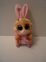 "Ty TWINKLE TOES 6"" Tan/Pink Ballerina Rabbit Beanie Boo Retired  - $9.89"