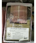 LORRAINE HOME FASHIONS Gypsy Shabby Chic Layered Ruffle Window Curtain P... - $29.00