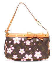 Auth Louis Vuitton Monogram Shoulder Hand Bag Brown Leather Logo Pouch L... - $808.83