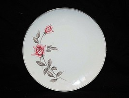 "Vintage Rosemarie by Noritake Fine China 10"" Dinner Plate White Pink Roses Japan - $19.79"