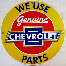 "Chevrolet-Genuine Parts Automotive 12"" Round Metal Sign - $30.00"