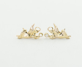 Vintage Gold-Tone Angels of Clarity Stud Earrings by Avon H4 - $21.99