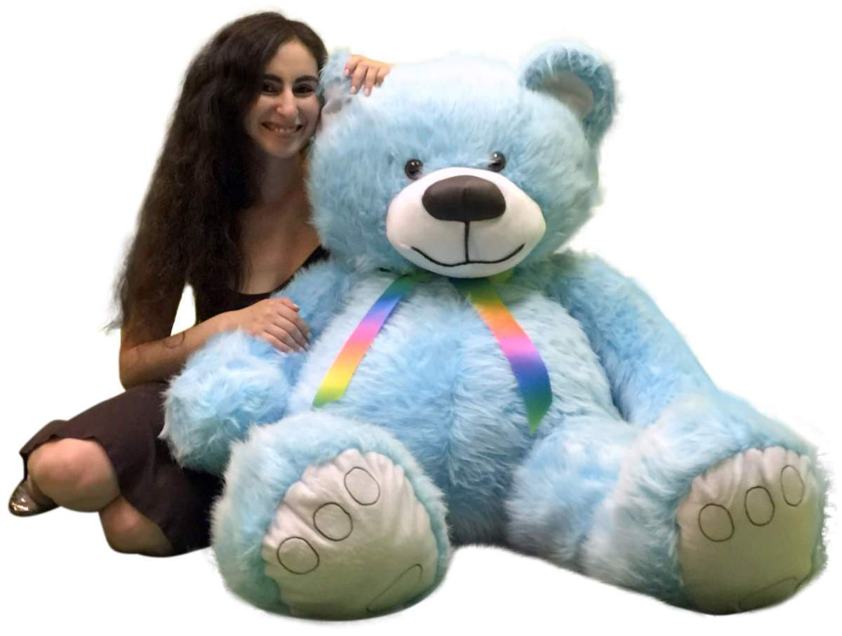 42758bbf9e6 S l1600. S l1600. Previous. 5 Foot American Made Sky Blue Color Giant Teddy  Bear 62 Inches Soft Made in USA