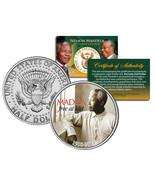 NELSON MANDELA 1918-2013 * MADIBA - FREE AT LAST * JFK Half Dollar US Co... - €8,03 EUR