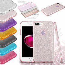 Apple iPhone 5 5s SE Hybrid Bling Glitter Rubber Protective TPU Hard Cas... - $7.88