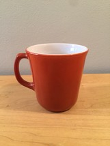 Vintage 60s set of 6 Corelle by Pyrex Burnt Orange mugs (discontinued and rare) image 4