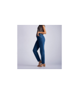 LEE Women's Side-Elastic Relaxed Fit Wrinkle Free Jeans Size: 14 Petite NWT - $29.95