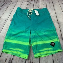 NWT AEO American Eagle Men's Green Ombre Swim Board Shorts Size XS - $48.37