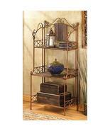 Bakers Rack, Industrial Kitchen Rustic Bakers Rack Metal With Storage (b... - $120.97