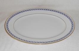 "Richard Ginori Italy Elba 14"" Oval Porcelain Platter Purple Green Blue R... - $55.00"