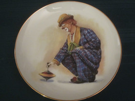 Four CLOWN CAPERS Collector Plates HAMILTON Spinner Rascal Romeo Steady ... - $48.38