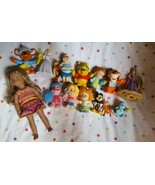 Lot Of 15 Mixed Lot  Figurines Little People Disney Care Bears American ... - $24.75