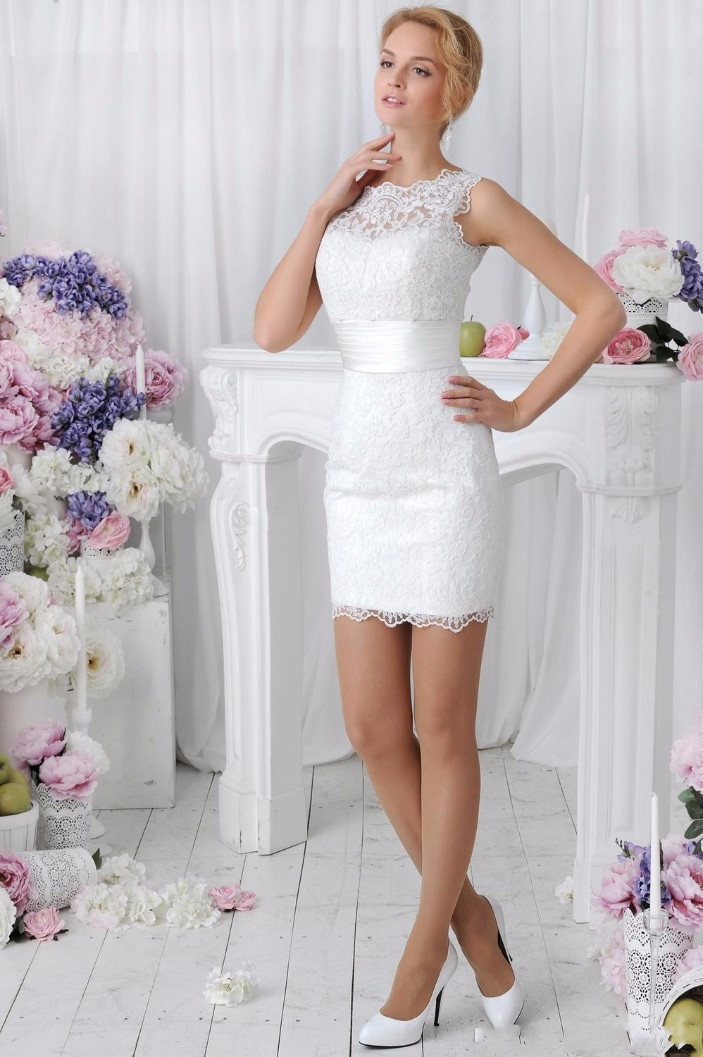 Lace Wedding Dress With Detachable Skirt at Bling Brides Bouquet online bridal s image 2