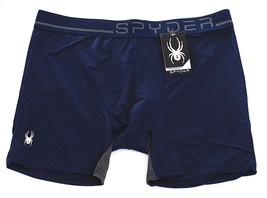 Spyder Performance Dark Blue Stretch Mesh Boxer Brief Underwear Men's NWT - $22.49