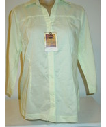 Women's Lee Riders Cooper Collection Light Green Blouse-M-$28.-NWT NEW - $9.85
