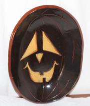 Eldreth Halloween Redware Plate / Bowl JOL Pumpkin Black with Orange Eye... - €72,46 EUR