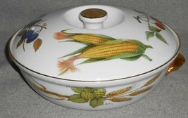 """Royal Worcester EVESHAM GOLD PATTERN 8"""" Entree Dish w/Lid MADE IN ENGLAND - $31.67"""