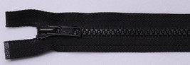 "12 Zippers - Vislon 16"" Black Separating Zippers by YKK® - M412.01-12zips - $23.97"