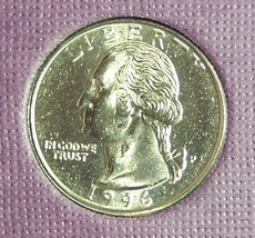 1996-P Washington Quarter MS65 #1028 - $7.99