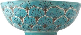 "Mexican Talavera Vessel Sink ""Turquoise Peacock"" image 1"