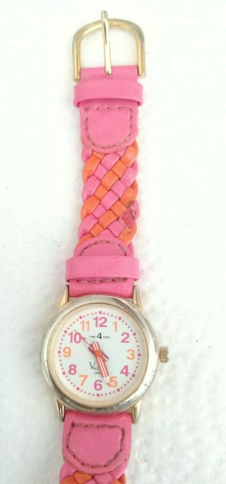 Time4Kidz Watch - Valdawn Vintage Water ressistant  Pink Leather Strap image 4