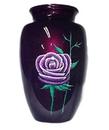Small/Keepsake 3 Cubic Inch Lavender Rose Aluminum Cremation Urn for Ashes - $49.99