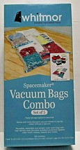 New Whitmor Spacemaker Vacuum Bags Combo Set of 5 Bags 1 Lg, 2 Med, 2 Sm - $7.69