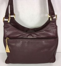 Etienne Aigner Vintage Maroon Soft Leather Multi Compartment Shoulder Bag - $44.61