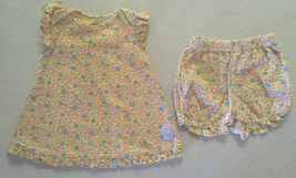 Girl's Sz 0-3 M Months 2 Pc Yellow Floral Designed Top & Bloomers Carter's - $16.00