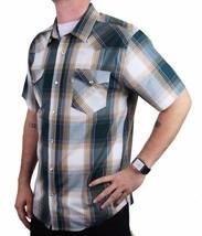 Levi's Men's Cotton Casual Button Up Short Sleeve Shirt Plaid Teal 3LYLW6082 image 2