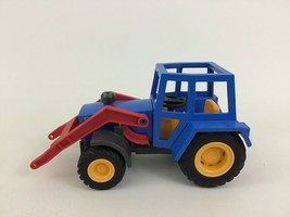 Playmobil 3073 Farm Tractor With Hay Trailer Replacement Blue Tractor Pi... - $16.88