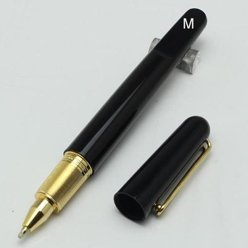 Limited edition mb black resin Magnetic cap rollerball pen carving Luxury school