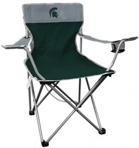 Patio Outdoor Metal NCAA Portable Folding Kickoff Chair Cup Holder Carry... - $39.99
