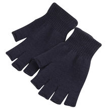 Dark Gray 2 Pairs Unisex Soft Half Finger Gloves Warm Knitted Mittens Fi... - $265,75 MXN